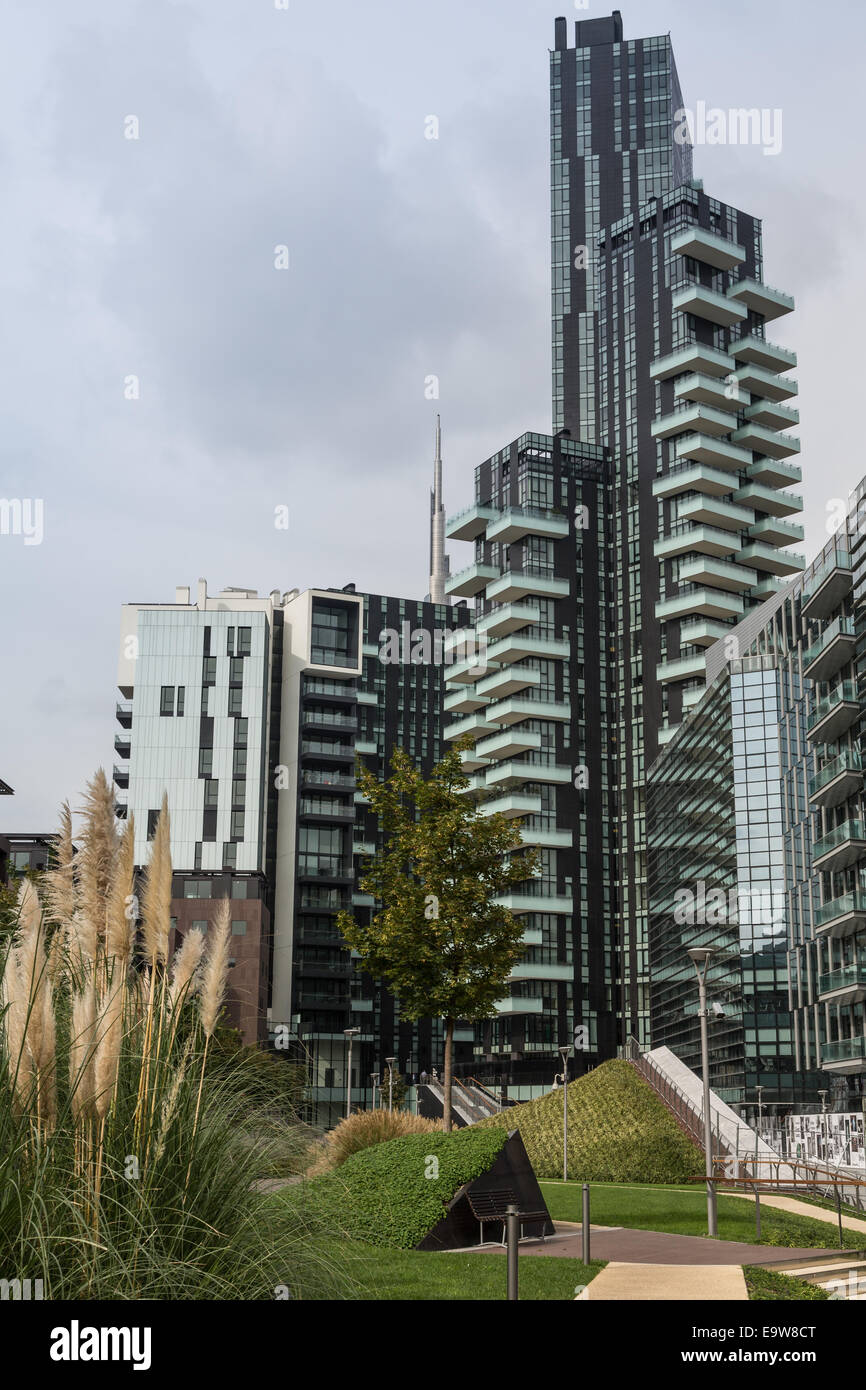 Milan, Italy, Porta Nuova business and residential district Stock Photo
