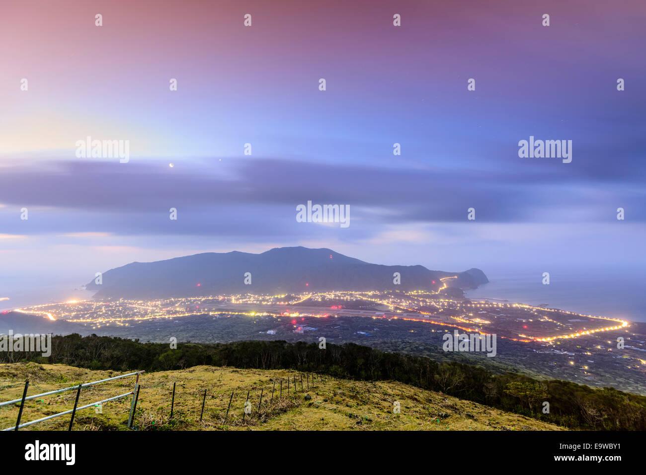 Hachijojima Island, Tokyo, Japan at dawn. - Stock Image