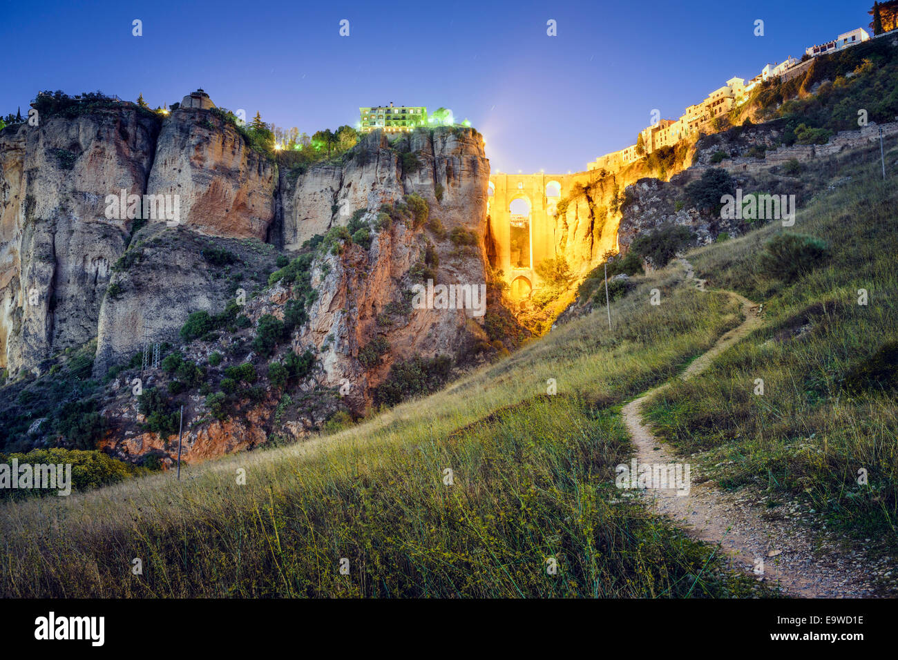 Ronda, Spain at Puente Nuevo Bridge. - Stock Image