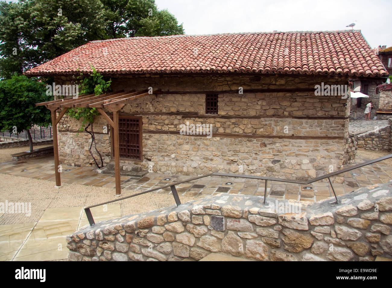 The Church of the Holy Saviour or Sveti Spas in the UNESCO World Heritage town of Nesebar, Bulgaria - Stock Image