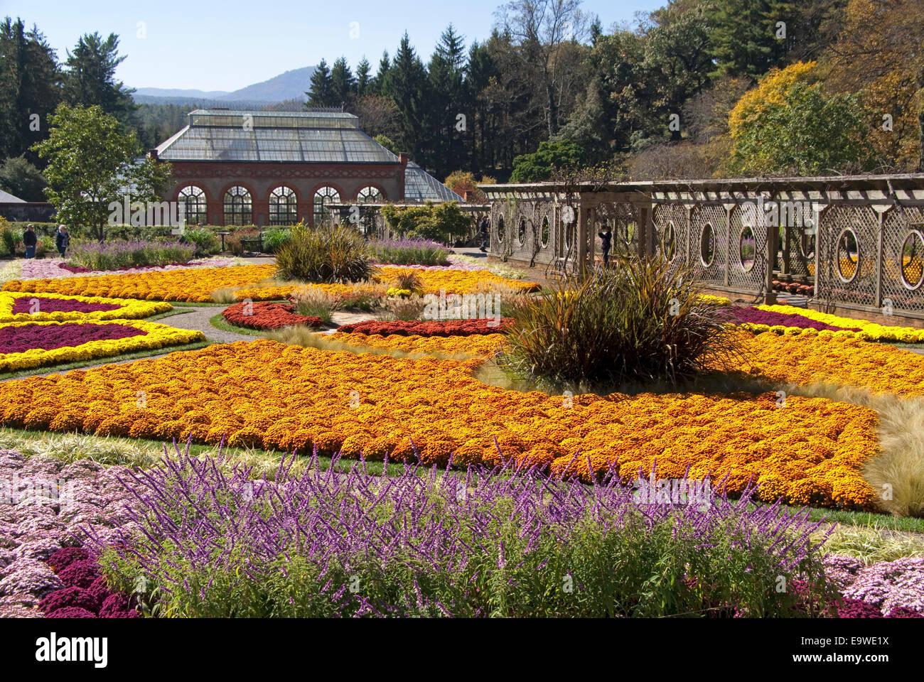 Biltmore Estate gardens in autumn, Asheville, North Carolina. - Stock Image