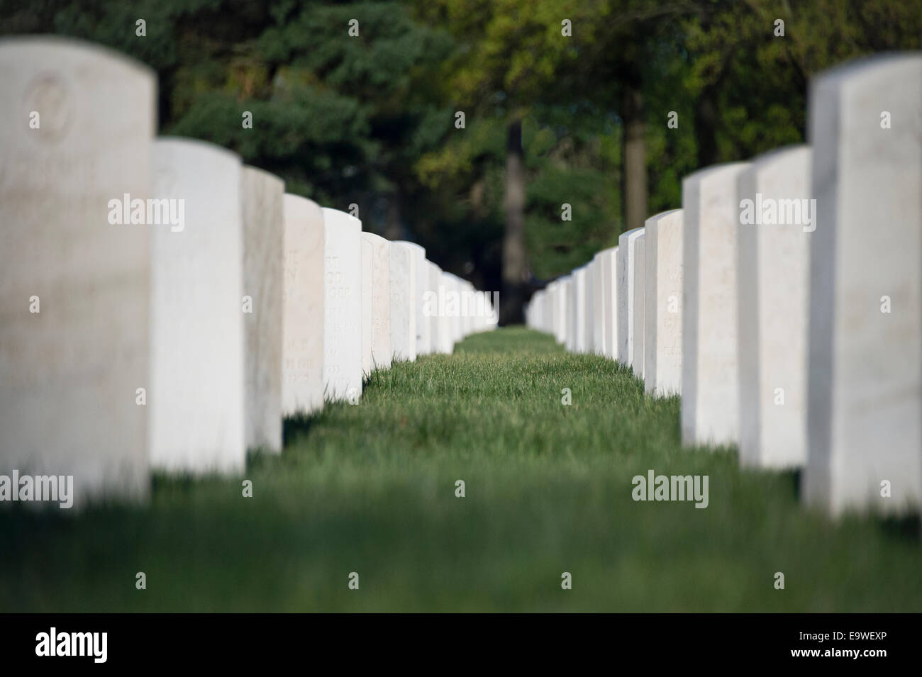 Beverly National Military Cemetery, Beverly, New Jersey, USA - Stock Image
