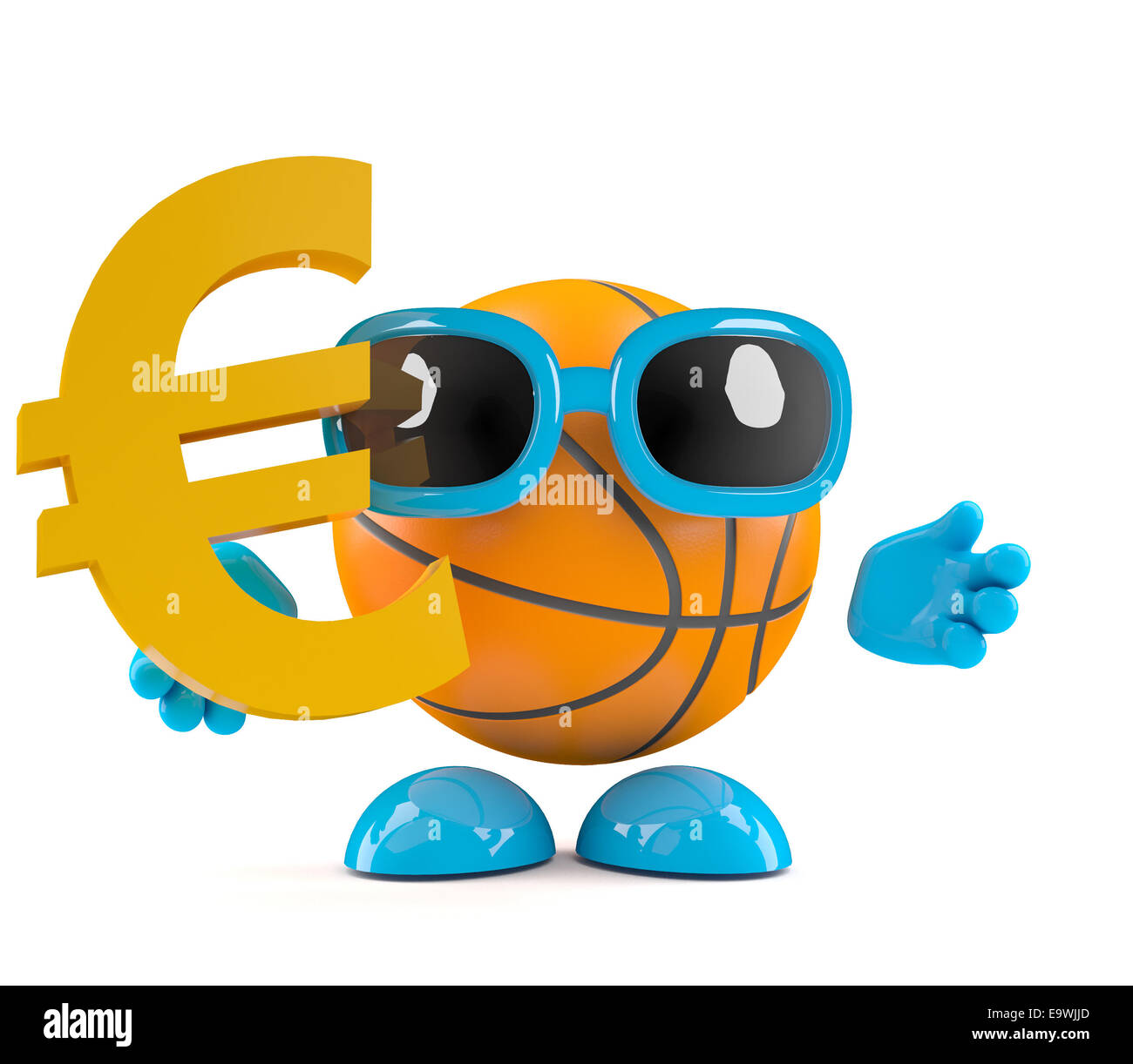 3d Render Of A Euro Currency Symbol Stock Photo 74936805 Alamy