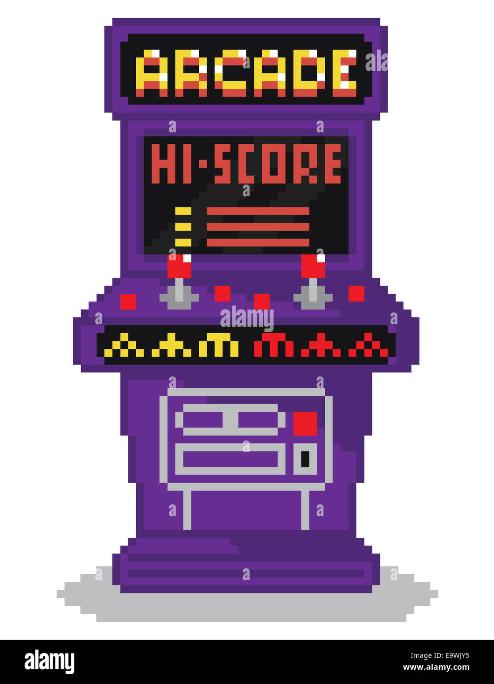 Vintage Arcade Games >> vector illustration - pixel art style drawing of arcade cabinet Stock Photo: 74937049 - Alamy