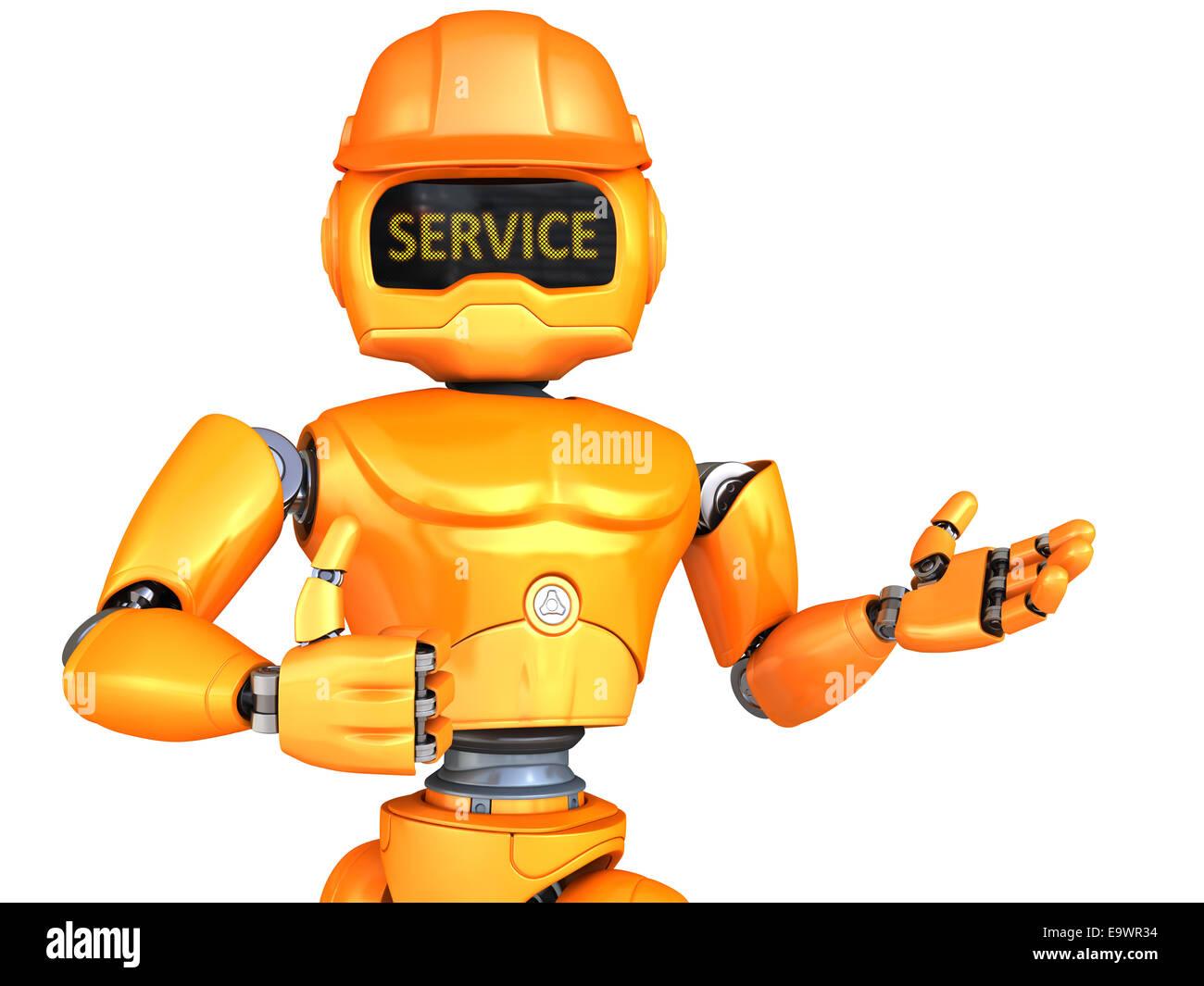 Robot-repairman - Stock Image