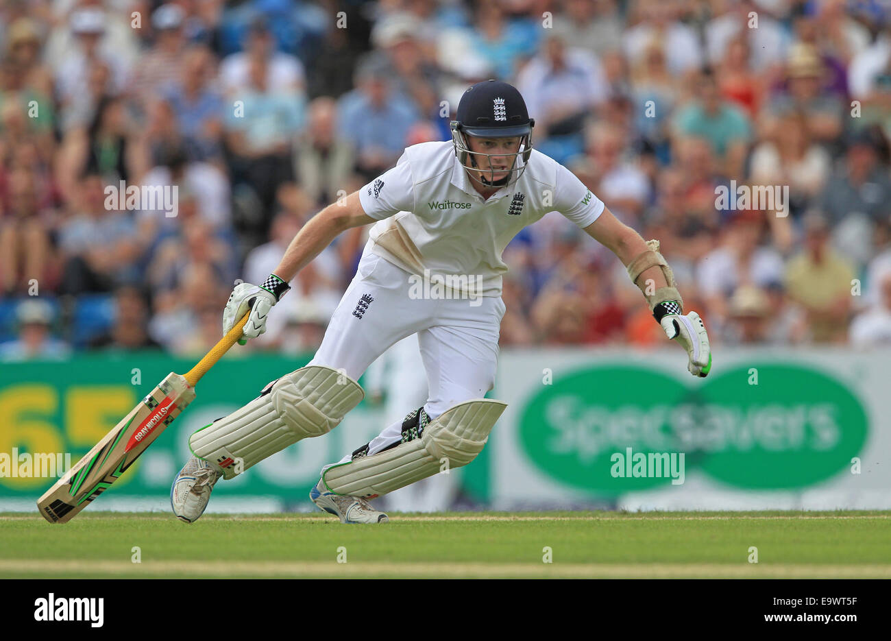 Cricket - Sam Robson of England in action during the Investec Second Test match against Sri Lanka at Headingley - Stock Image