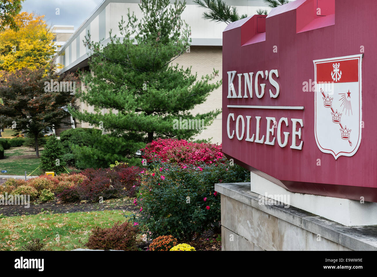 King's College Campus, Wilkes-Barre, Pennsylvania, USA - Stock Image