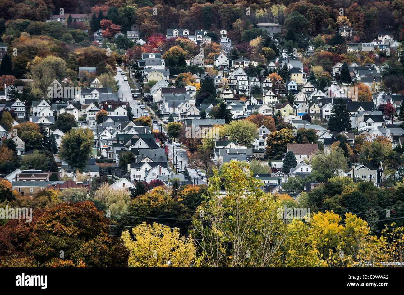 Cluster of houses, Scranton, Pennsylvania, USA - Stock Image