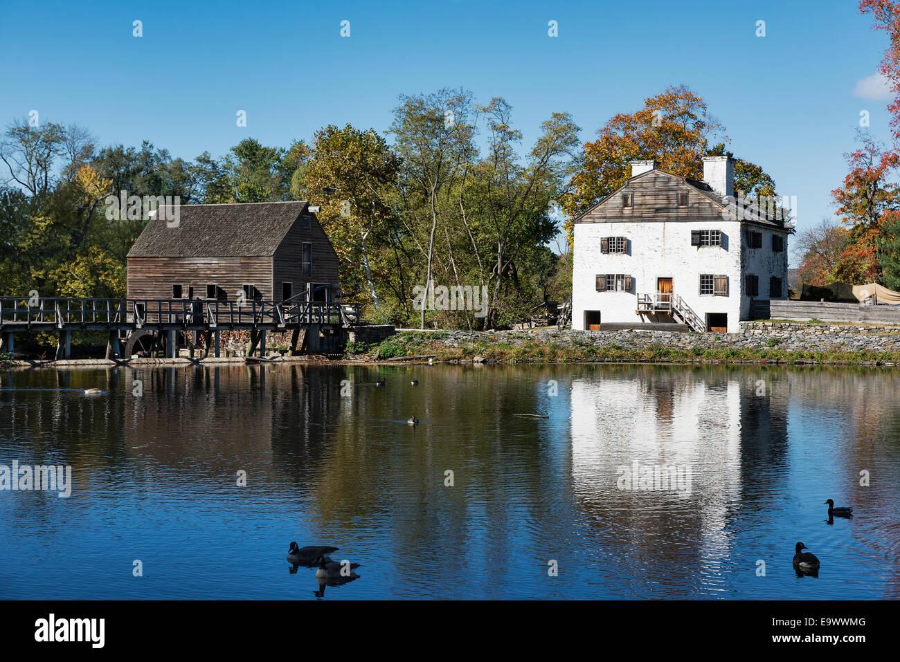 Historic Philipsburg Manor, Sleepy Hollow, New York, USA - Stock Image