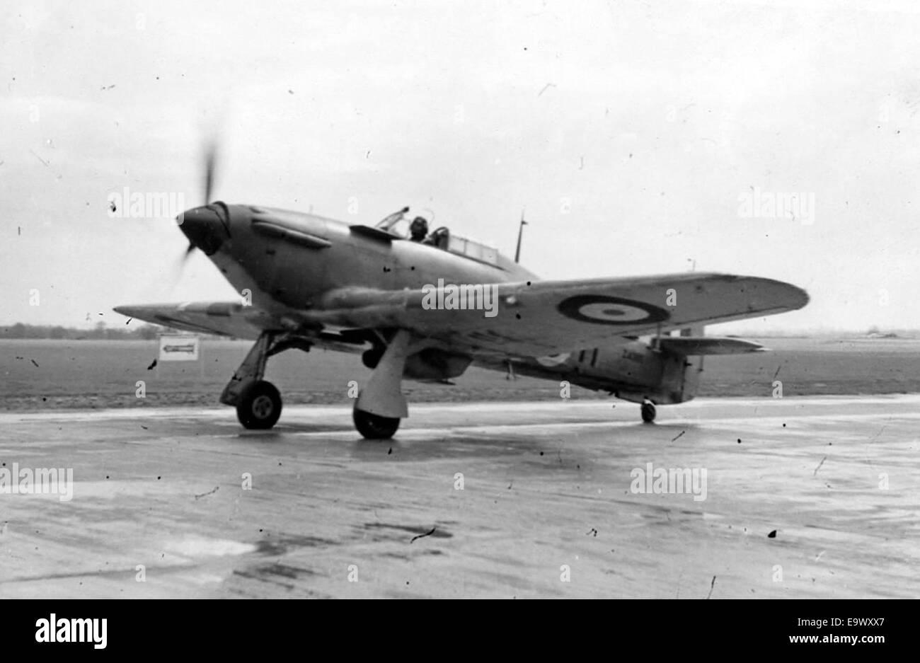 Fleet Air Arm Sea Hurricane fighter of WW11 - Stock Image