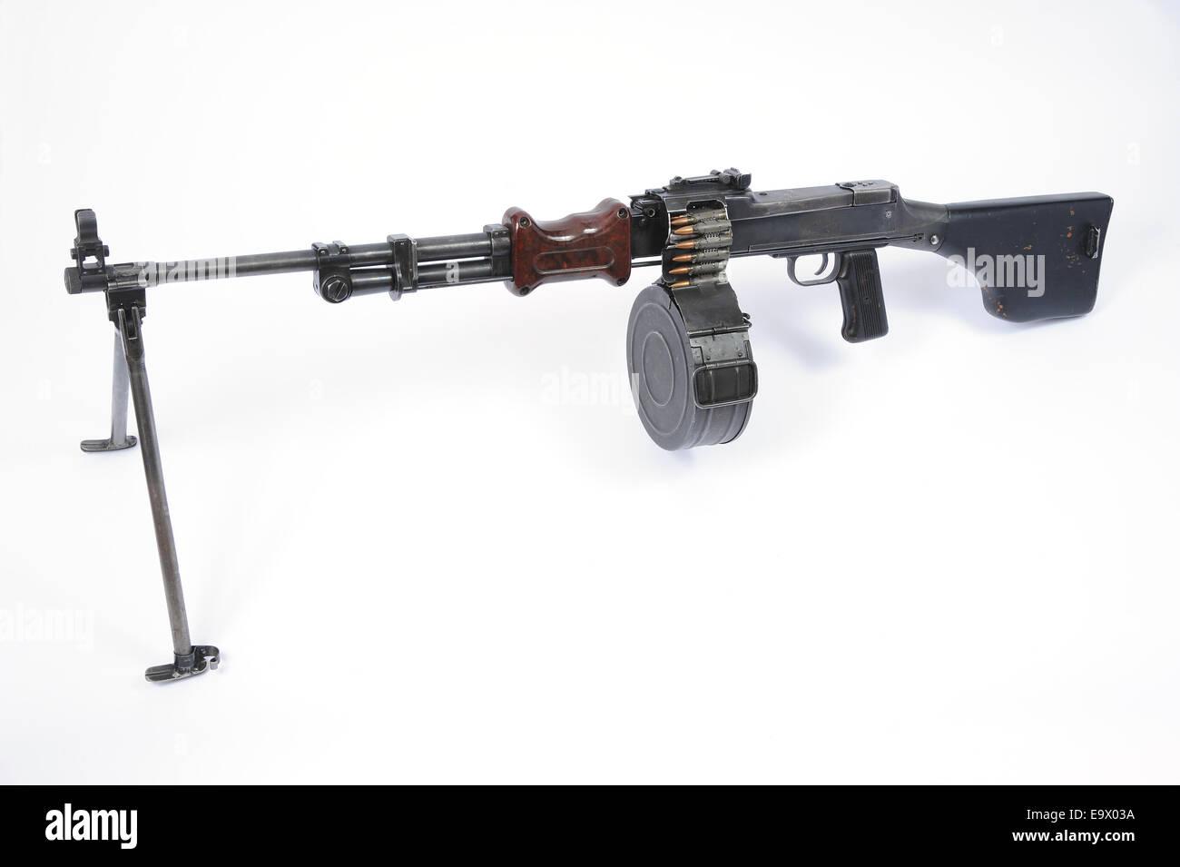Russian RPD machine gun - Stock Image