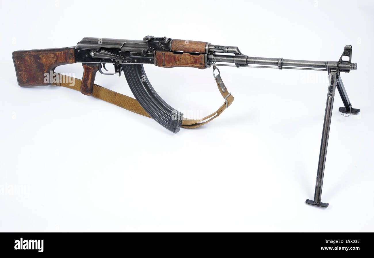 Russian RPK machine gun - Stock Image