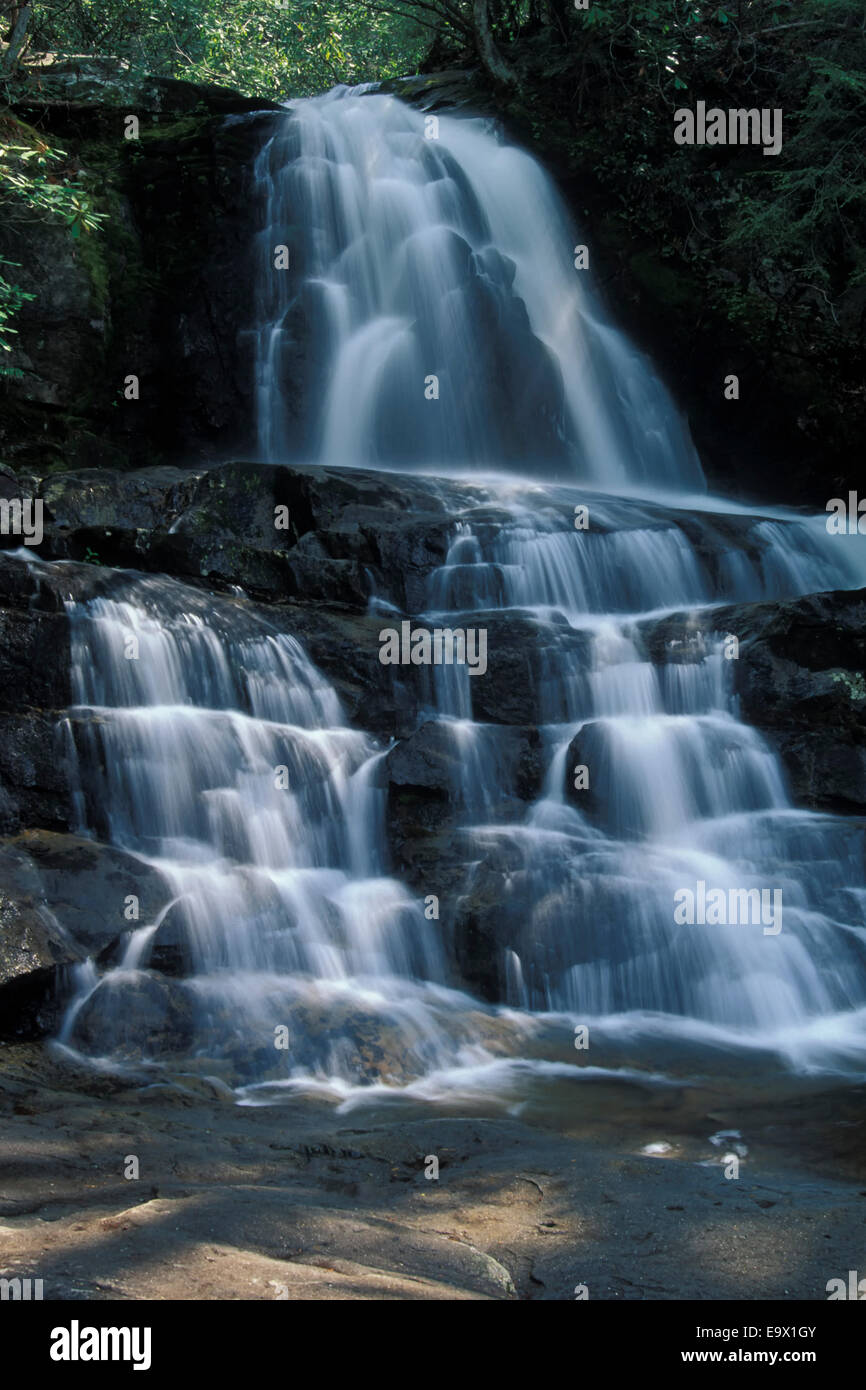 Laurel Falls Great Smoky Mountains National Park Tennessee - Stock Image