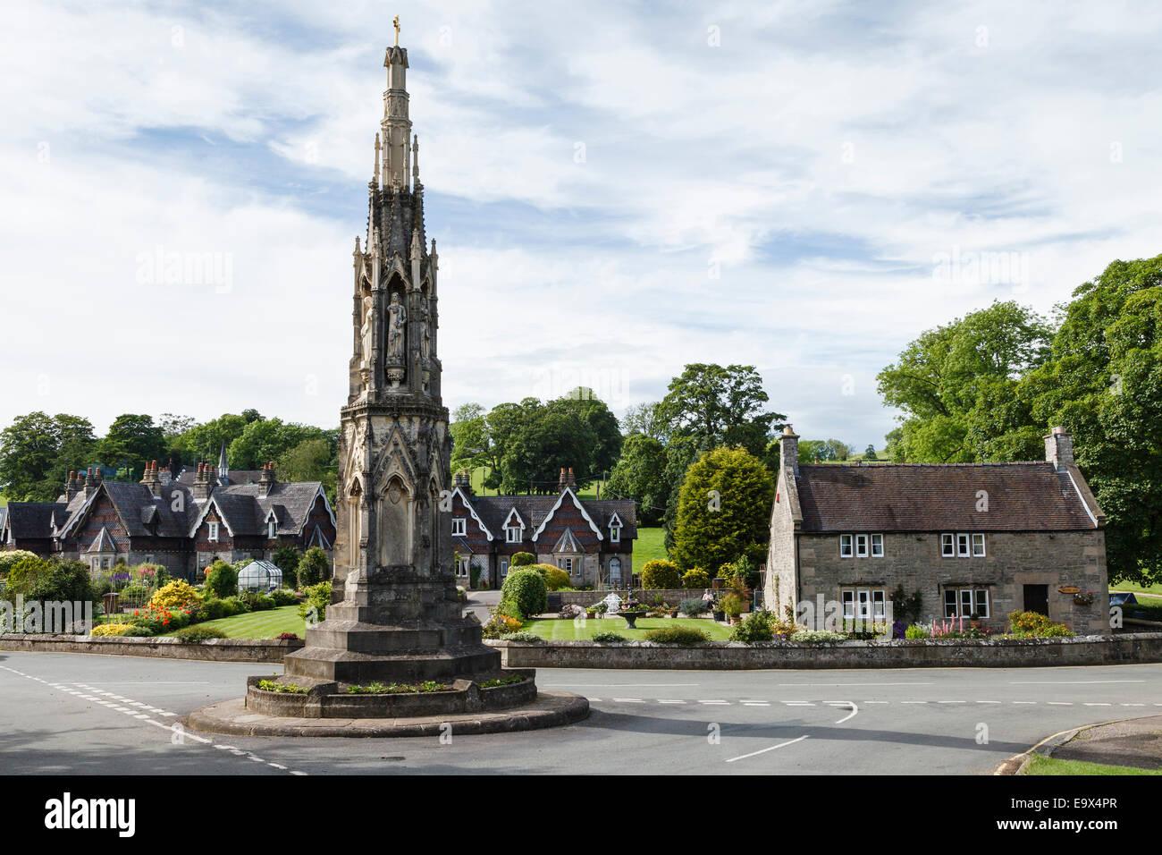 Ilam Cross, Peak District National Park, Staffordshire - Stock Image