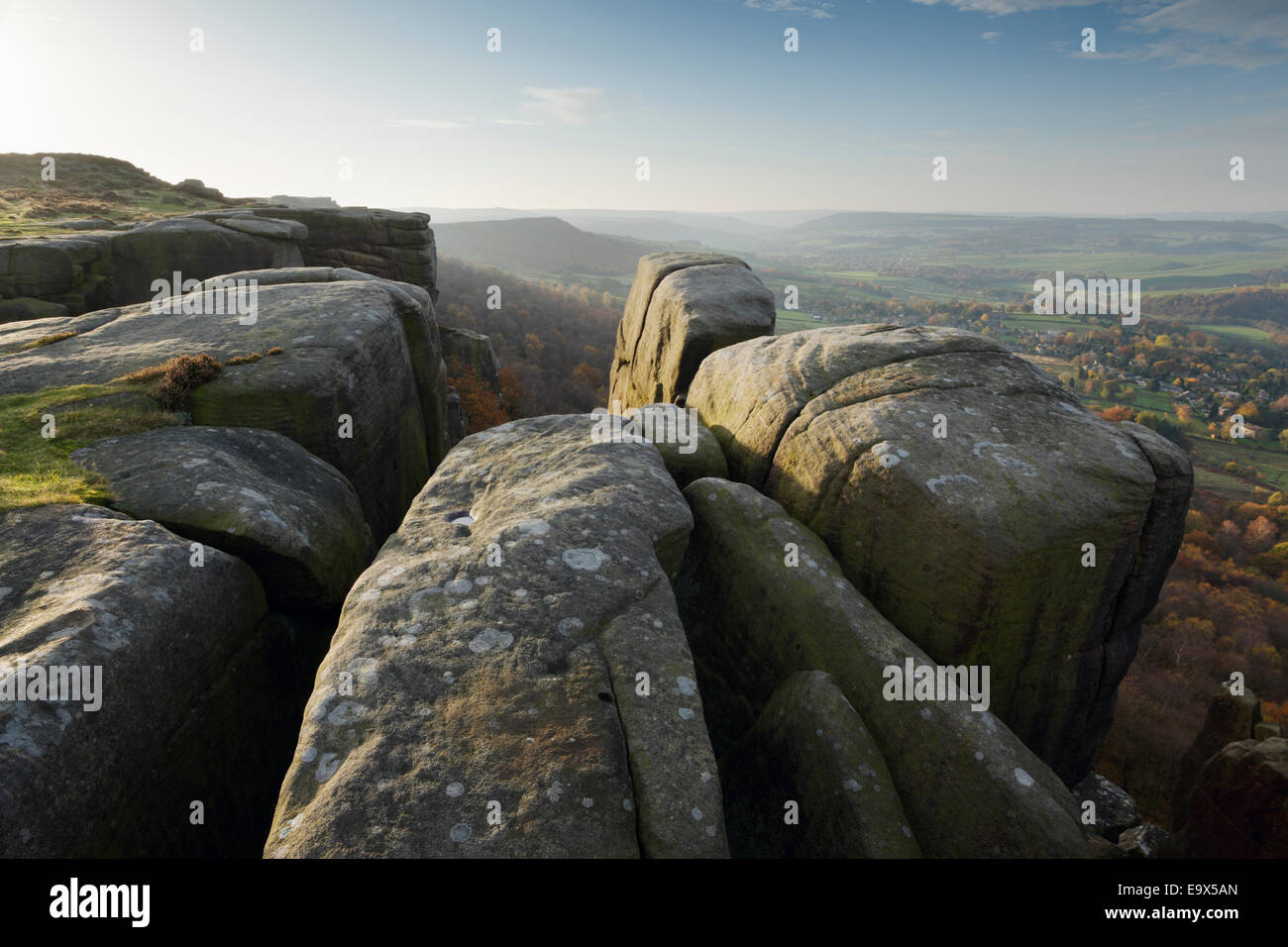 Curbar Edge, Autumn. Peak District National Park. Derbyshire. England. UK. - Stock Image