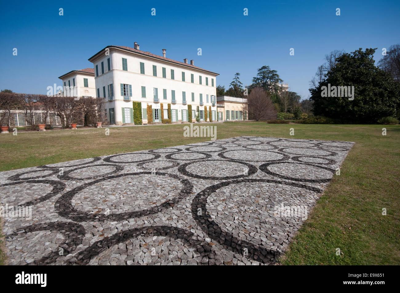 Italy, Lombardy, Varese, Biumo Superiore, Villa Menafoglio Litta Panza,  FAI, Fagus by Stuart Ian Frost Artist 2013 Stock Photo