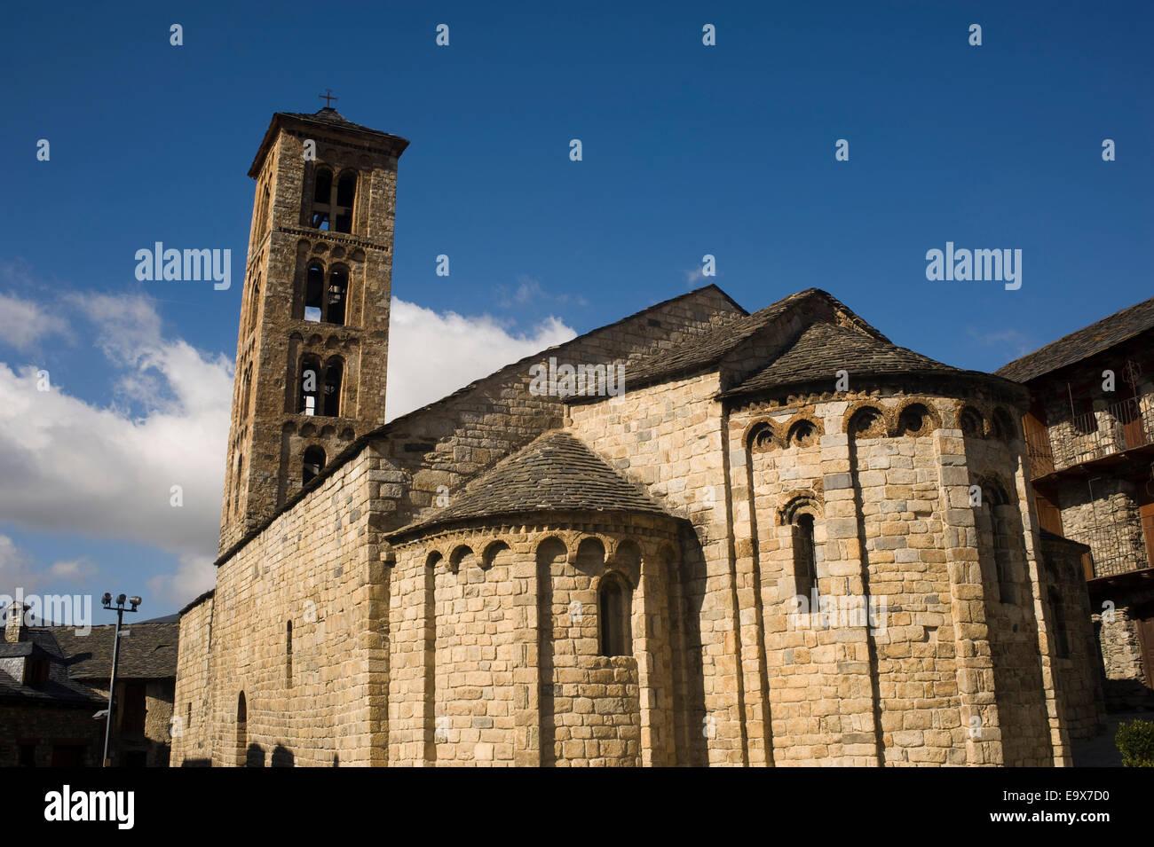 Santa Maria de Taull romanesque church. Taull, Vall de Boi, Lleida, Catalonia, Spain. Unesco World Heritage Site. - Stock Image