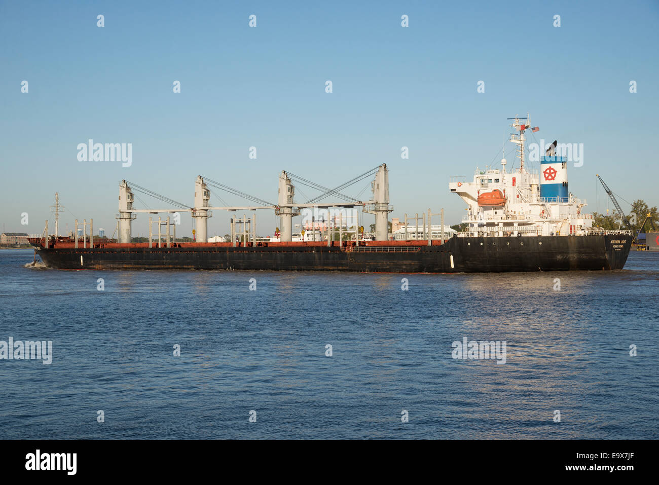 Northern Light a bulk carrier ship on The Mississippi New Orleans USA - Stock Image