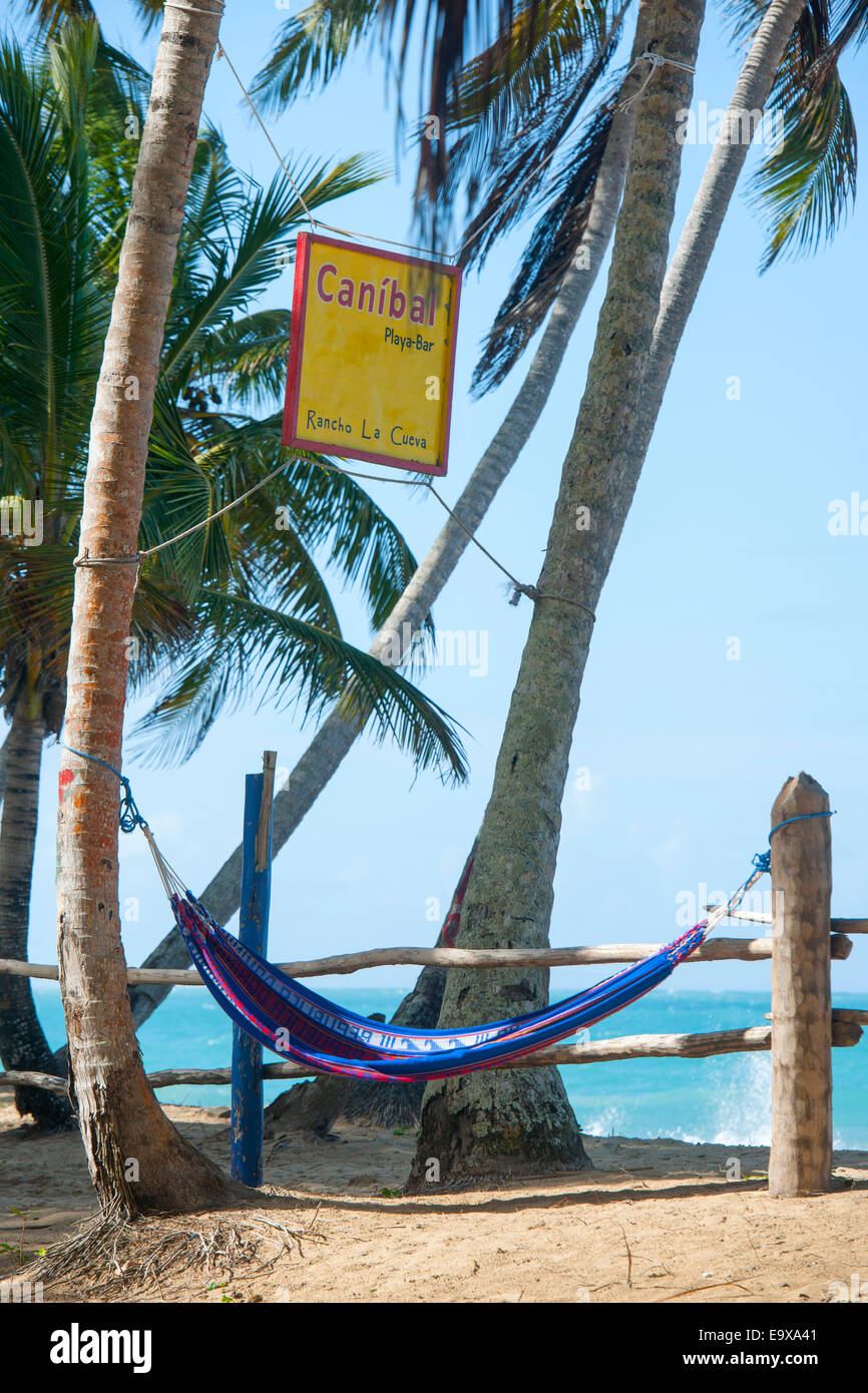 Dominikanische Republik, Osten, El Cedro, Strand Playa Limon Stock Photo