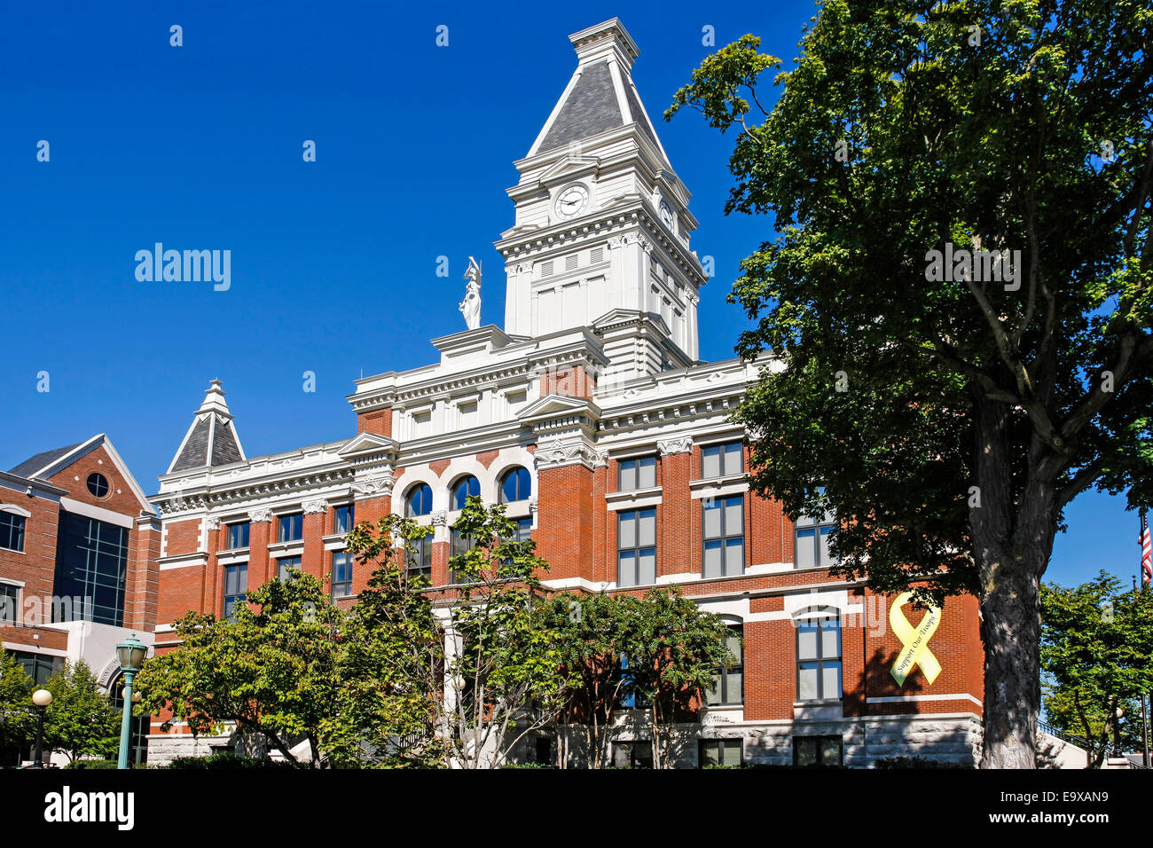 The Montgomery County Courthouse building in Clarksville TN - Stock Image