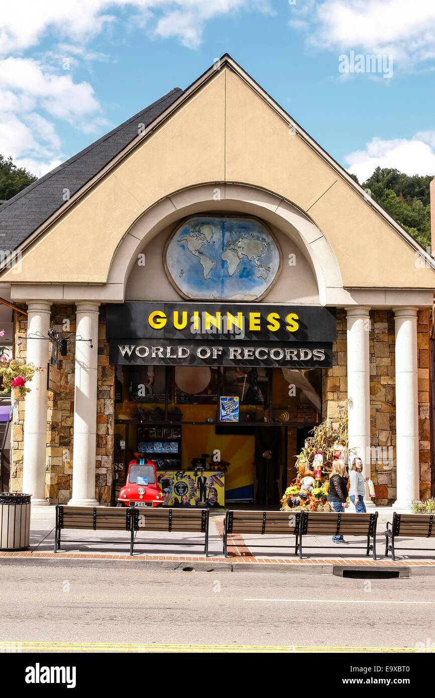 Guinness World of Records museum of curiosities  in Gatlinburg Tennessee - Stock Image