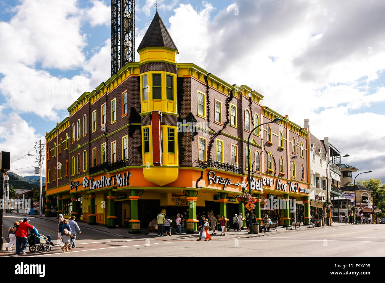 Ripley's Believe it or not strange and weird exhibits museum in Gatlinburg Tennessee - Stock Image