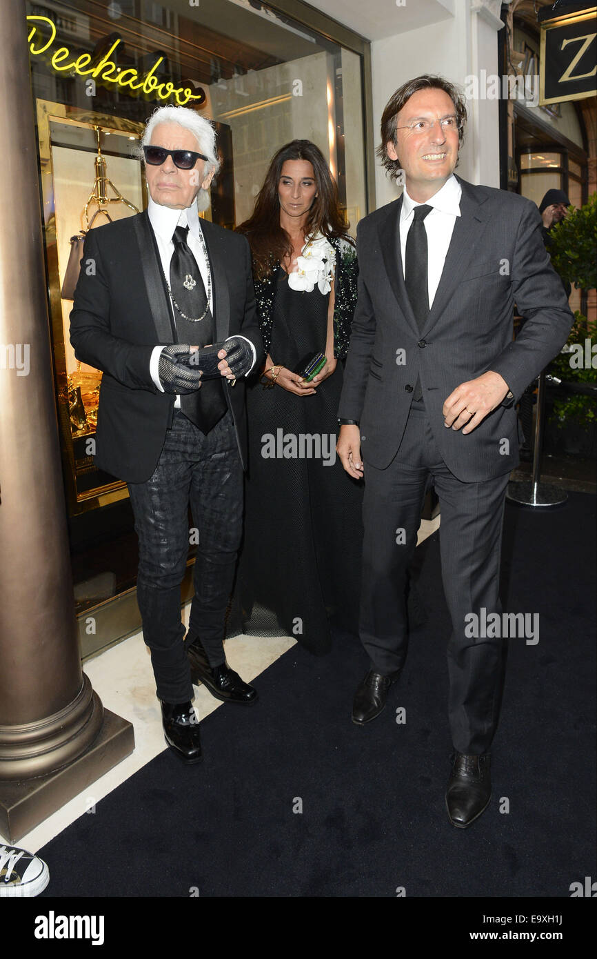 a3987d3227ef Karl Lagerfeld And Silvia Fendi Stock Photos   Karl Lagerfeld And ...