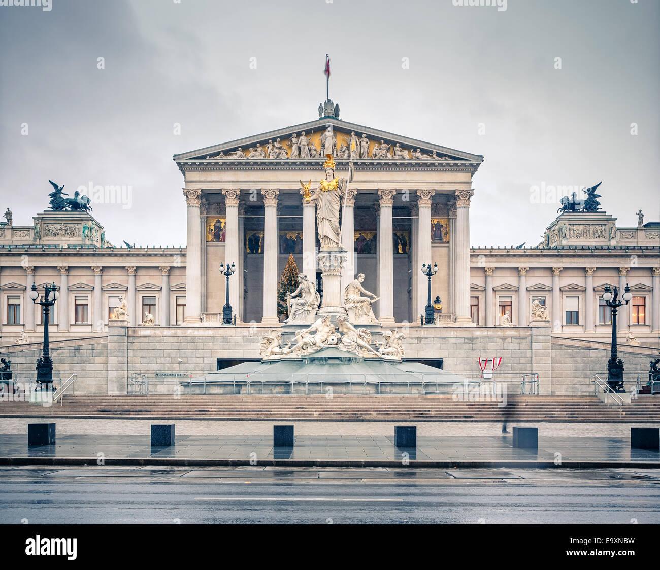 Austrian Parliament in Vienna - Stock Image