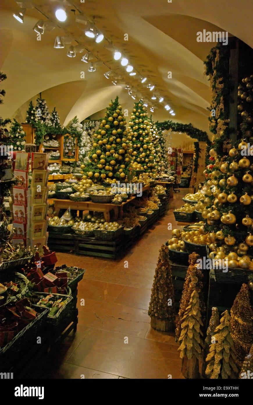 Christmas Decoration Shop In Salzburg Stock Photo 74963437 Alamy