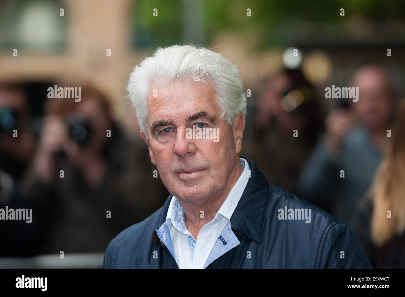 Celebrity publicist Max Clifford arrives at Southwark Crown Court for sentencing after being found guilty of indecent Stock Photo