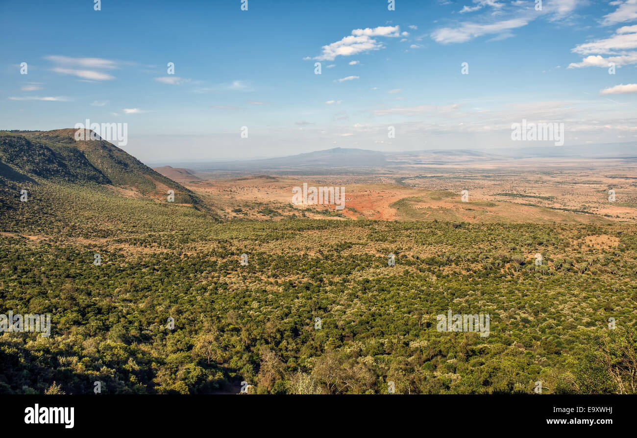 The Great Rift Valley from the Kamandura Mai-Mahiu Narok Road, Kenya, Africa Stock Photo