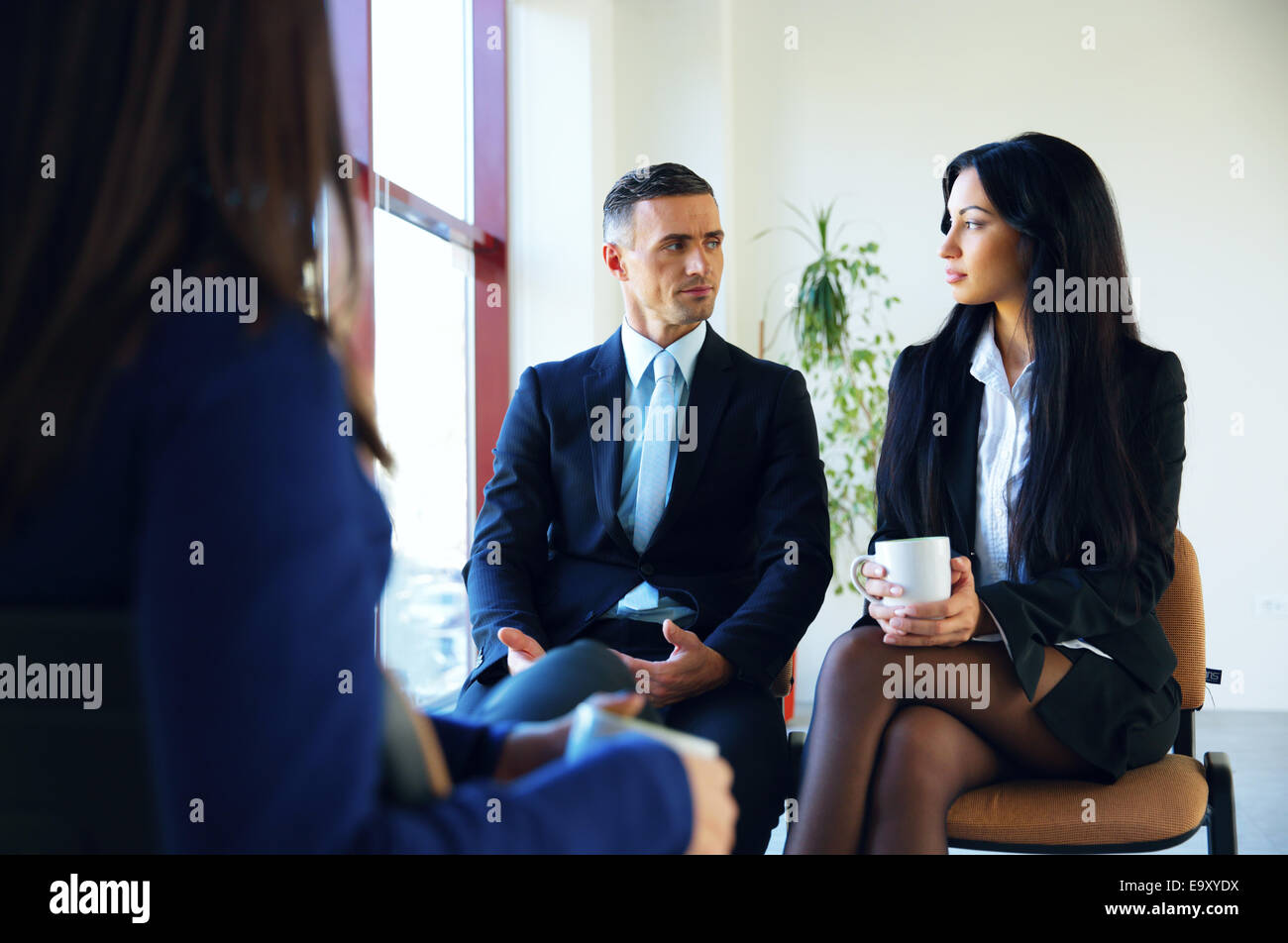 Business people having meeting in office Stock Photo