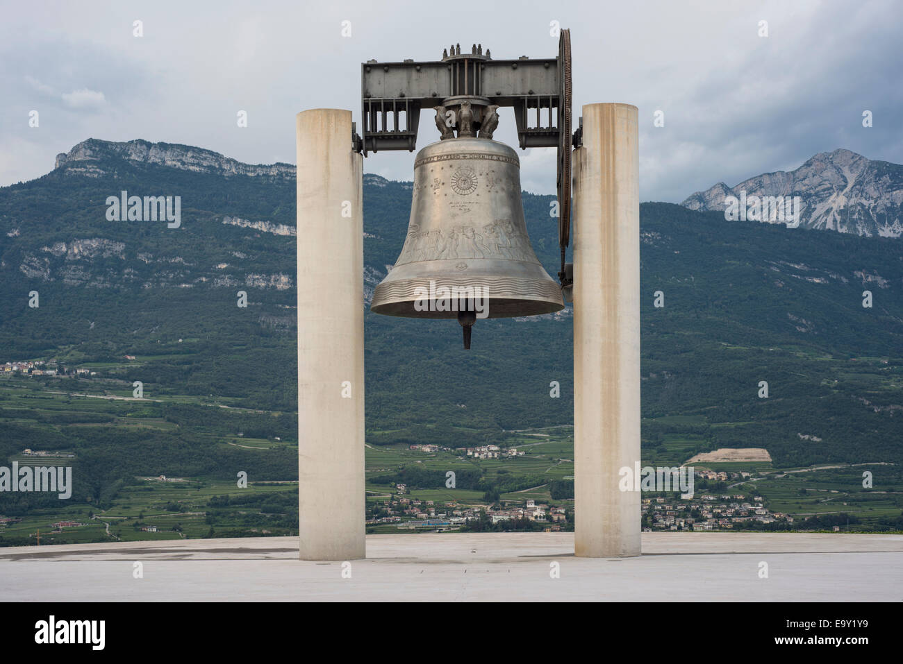 Peace Bell Maria Dolens, World War I Memorial, Rovereto region of Trentino-Alto Adige, Italy - Stock Image