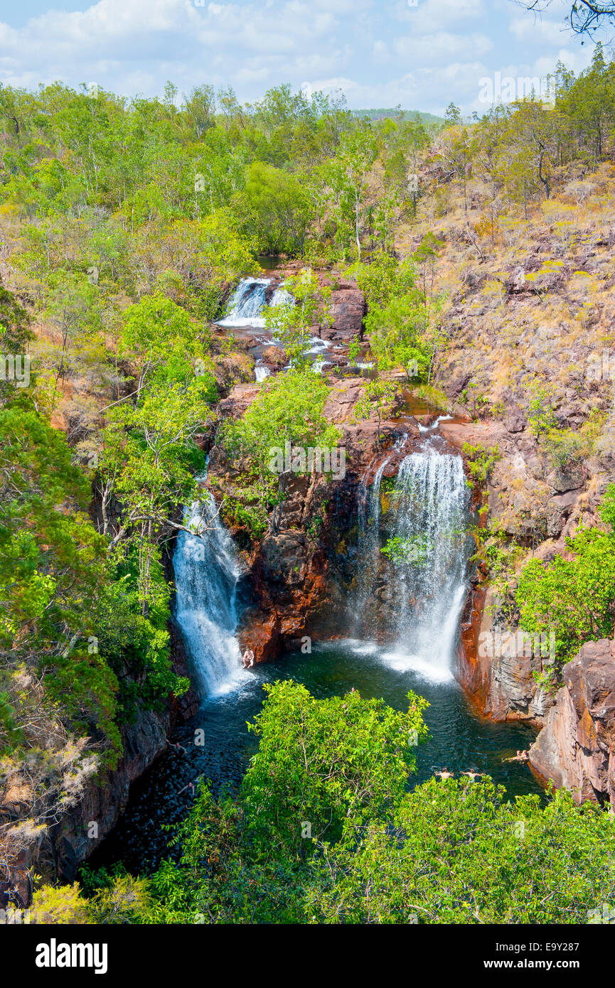 Waterfall in the Litchfield National Park, Northern Territories, Australia - Stock Image