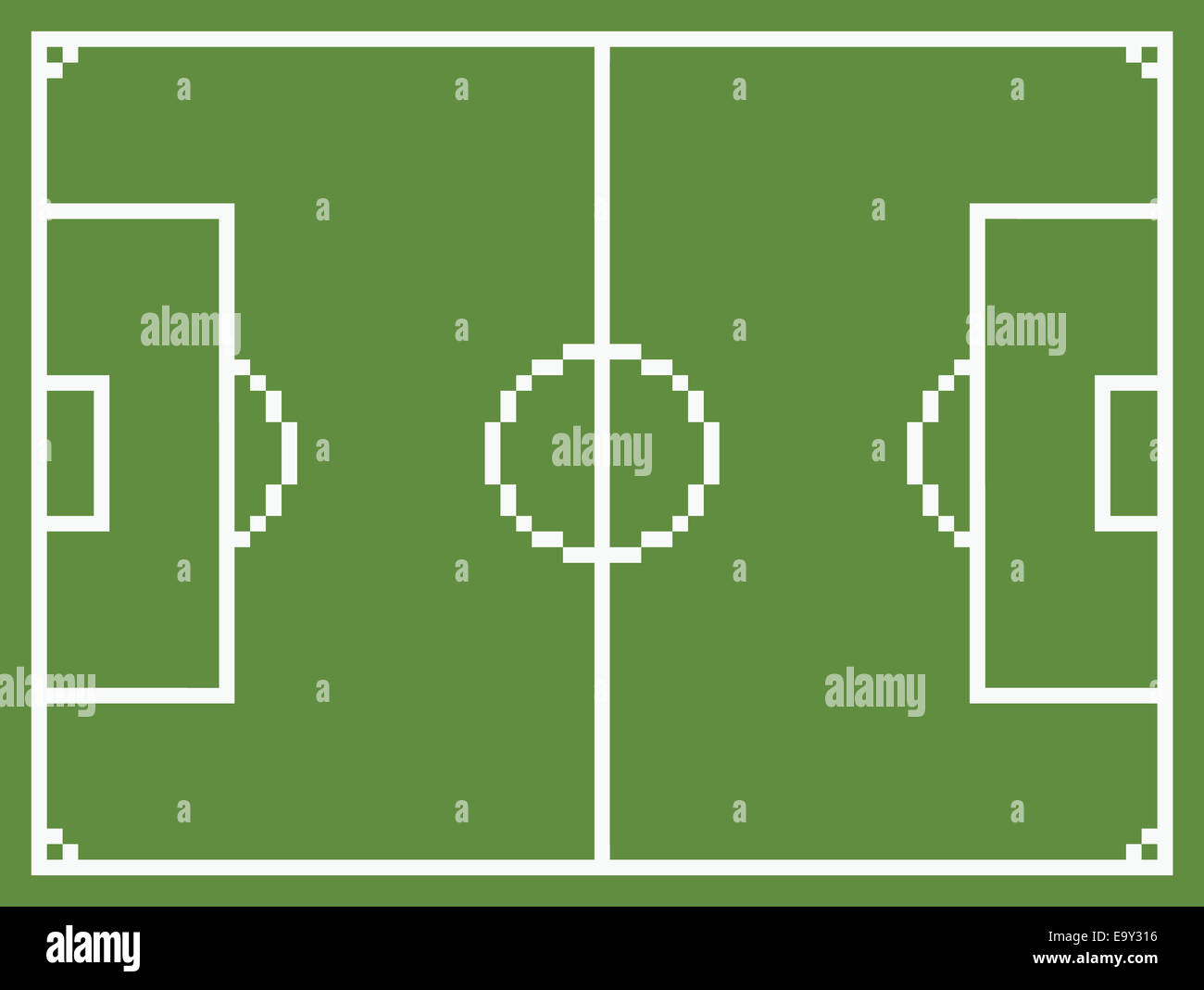 Pixel Art Style Football Sport Field Soccer Playground Green Vintage Game