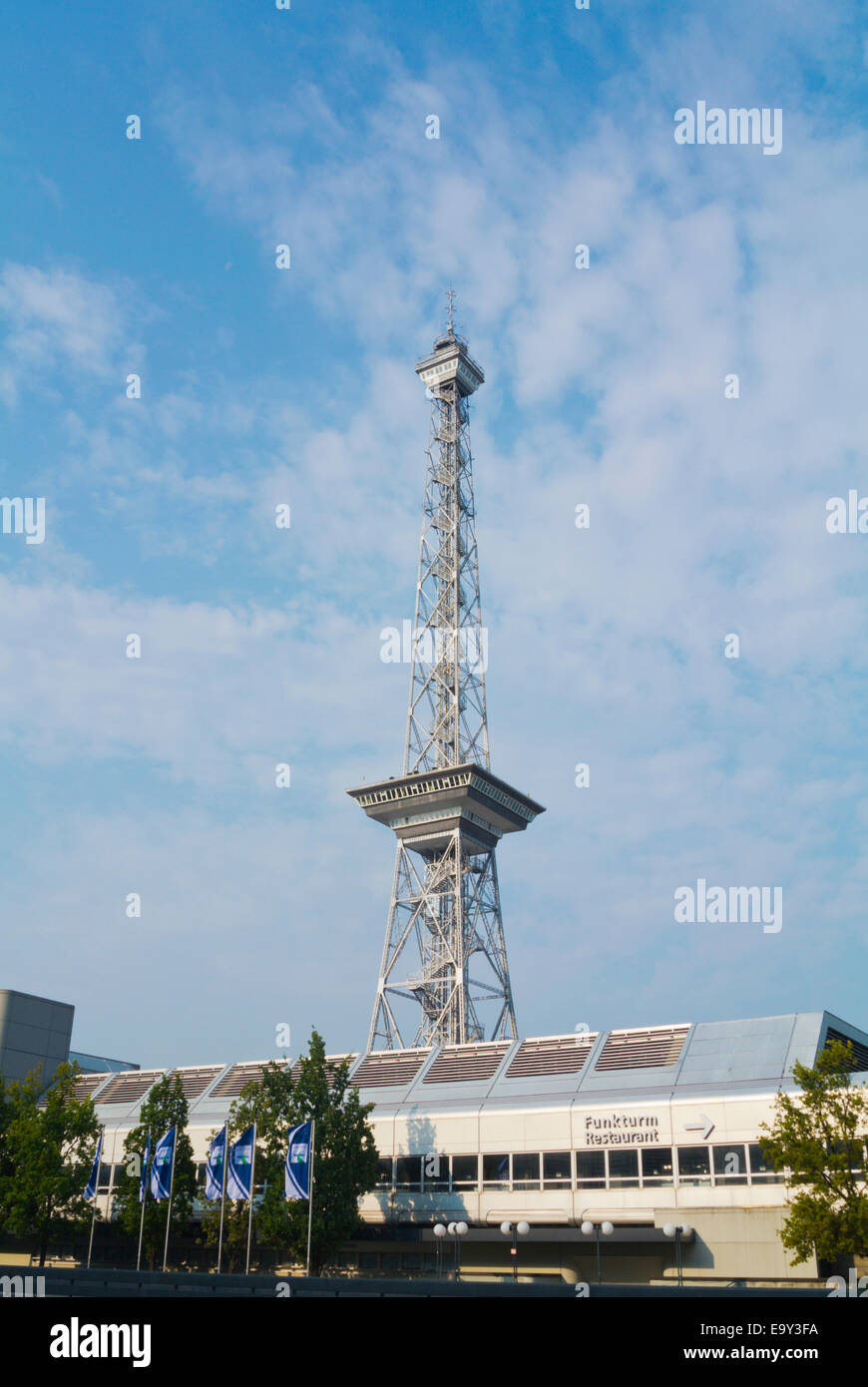 Funkturm tower (1928), Messe, Fair Trade grounds, Charlottenburg, west Berlin, Germany - Stock Image