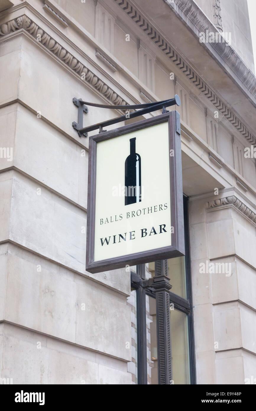 Balls Brothers wine bar sign, London, UK - Stock Image