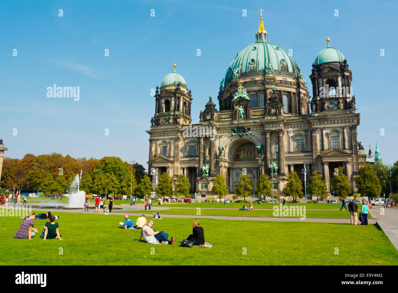 Lustgarten park, in front of Berliner Dom, Berlin Cathedral, Museumsinsel,museum island, Mitte district, central - Stock Image