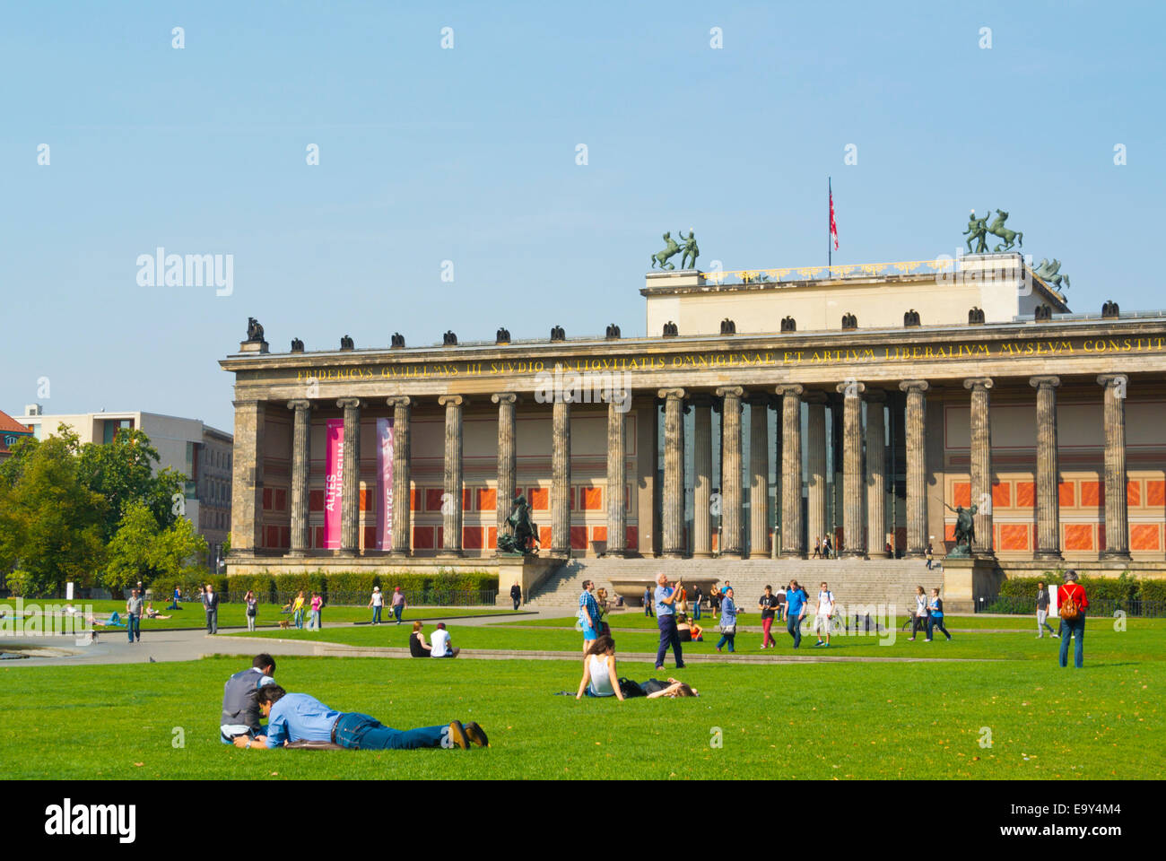 Lustgarten park, in front of Altes Museum, Museumsinsel, the museum island, Mitte district, central Berlin, Germany - Stock Image