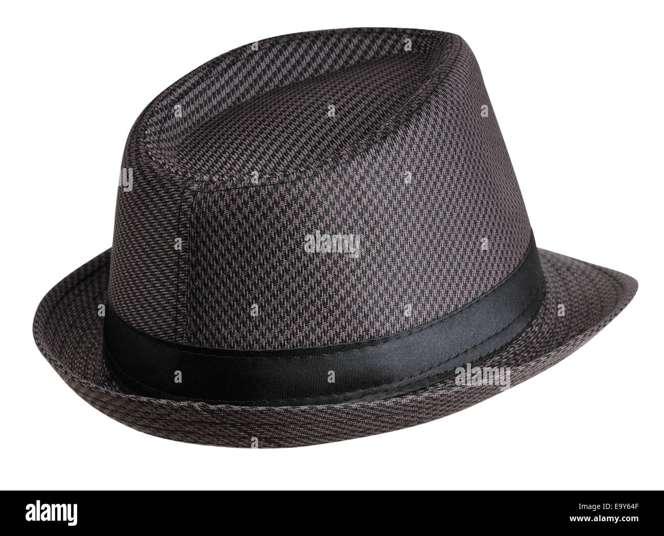 Hat - rear view on the right. Isolated on white background - Stock Image