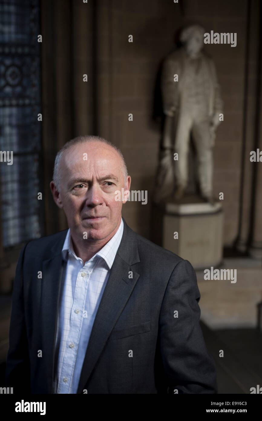 Sir Richard Leese, leader of Manchester City Council, pictured at the city's Town Hall. - Stock Image