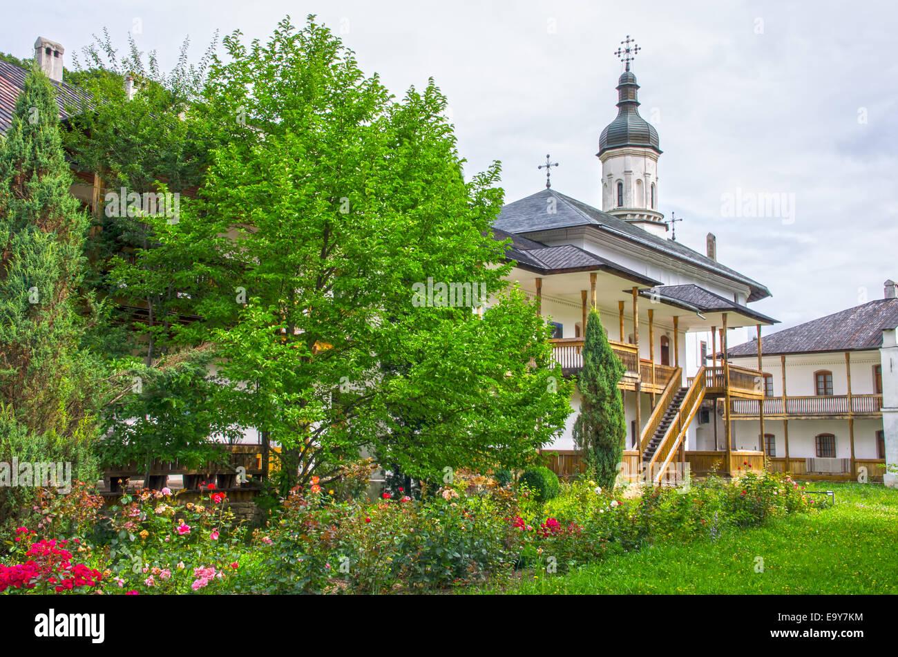 Orthodox monastery of Secu in Moldavia, Romania. - Stock Image