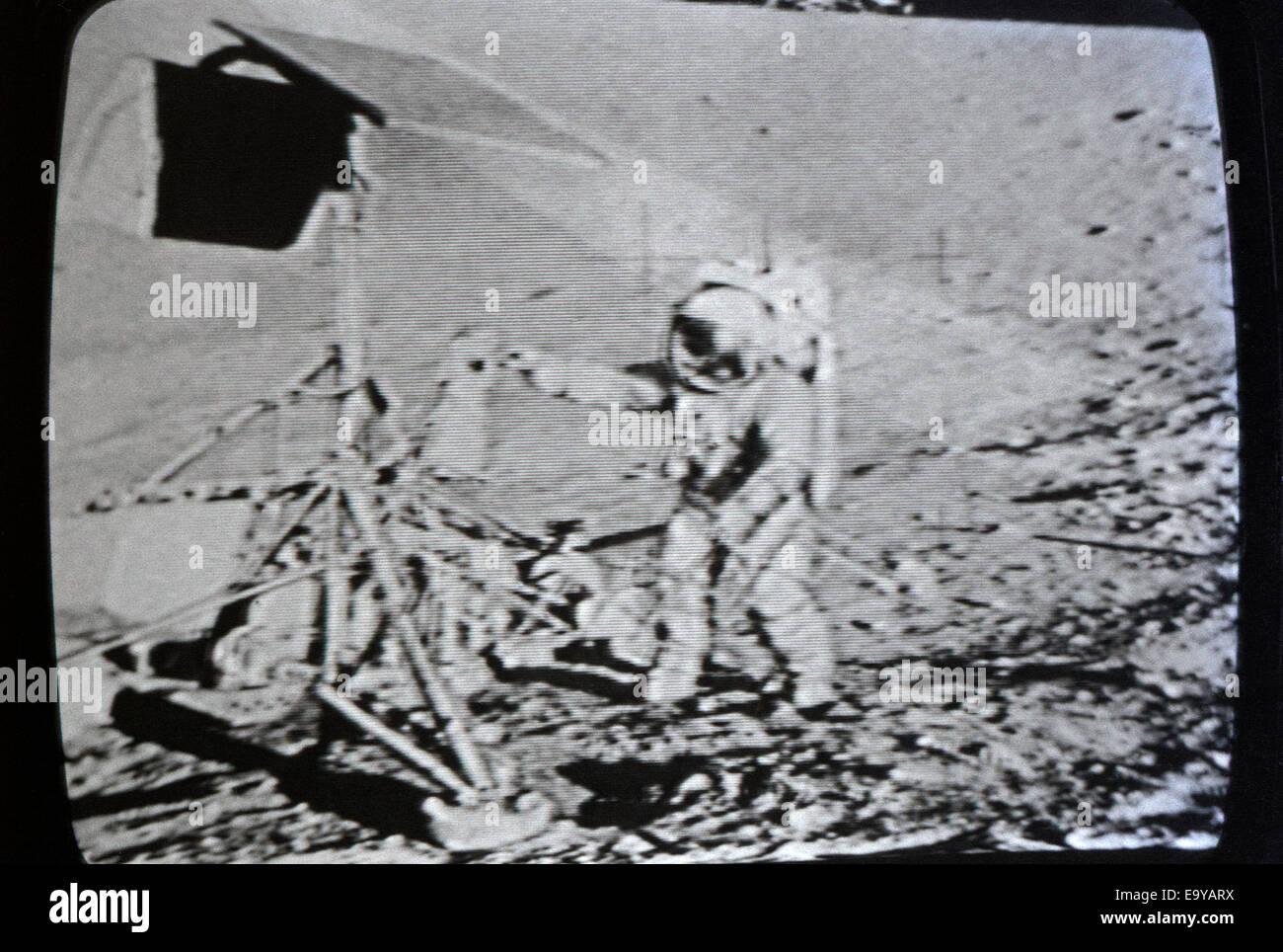 Moon landing date in Brisbane