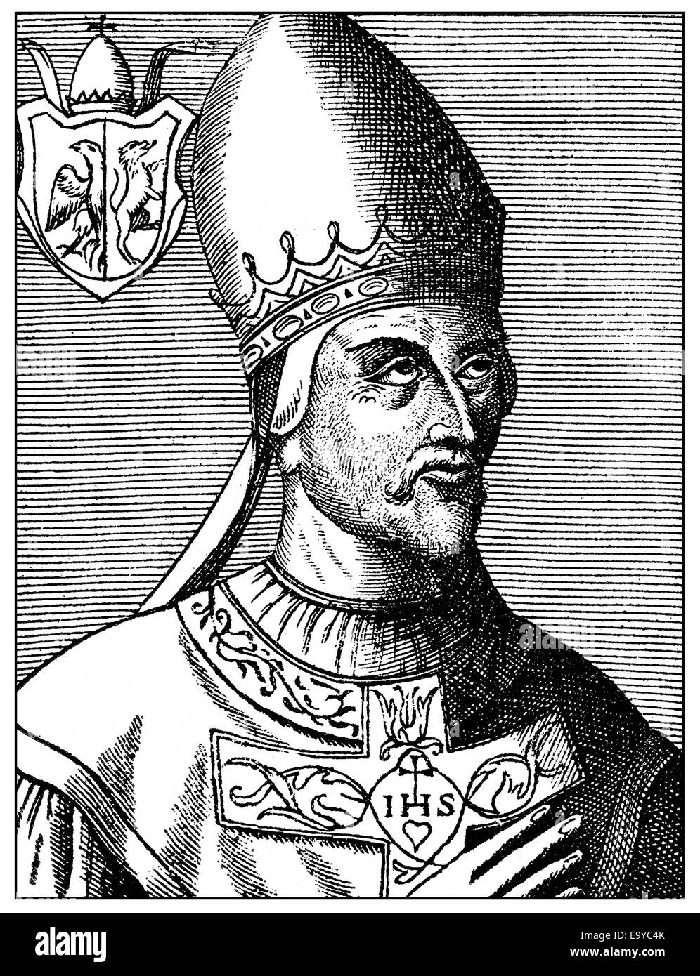Pope Gregory VIIor Gregorius VII, born Hildebrand of Sovana, Ildebrando da Soana, Pope from 1073 to 1085, Papst - Stock Image