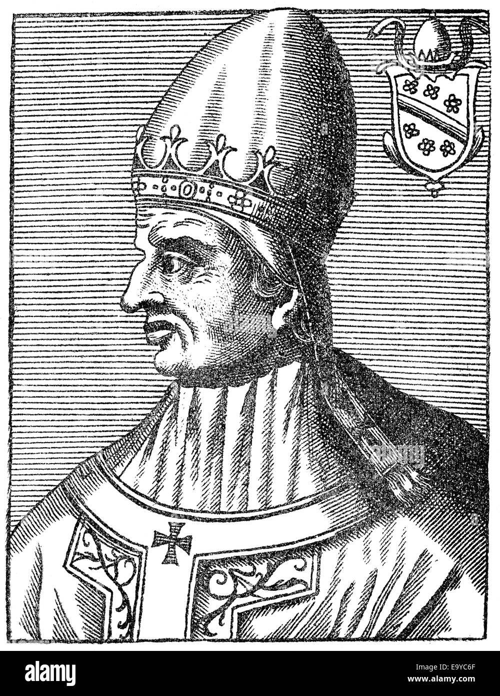 Pope Gregory XI or Gregorius XI, born Pierre Roger de Beaufort, c. 1329-1378,  Pope from 1370 to 1378, Papst Gregor XI., ursprüng