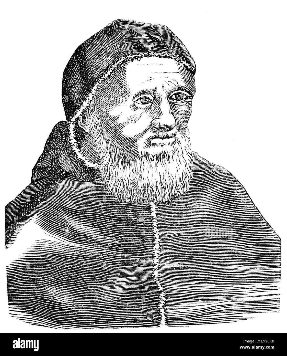 Pope Julius II or Iulius II,  1443-1513,  nicknamed, The Fearsome Pope, the Warrior Pope, born Giuliano della Rovere, - Stock Image