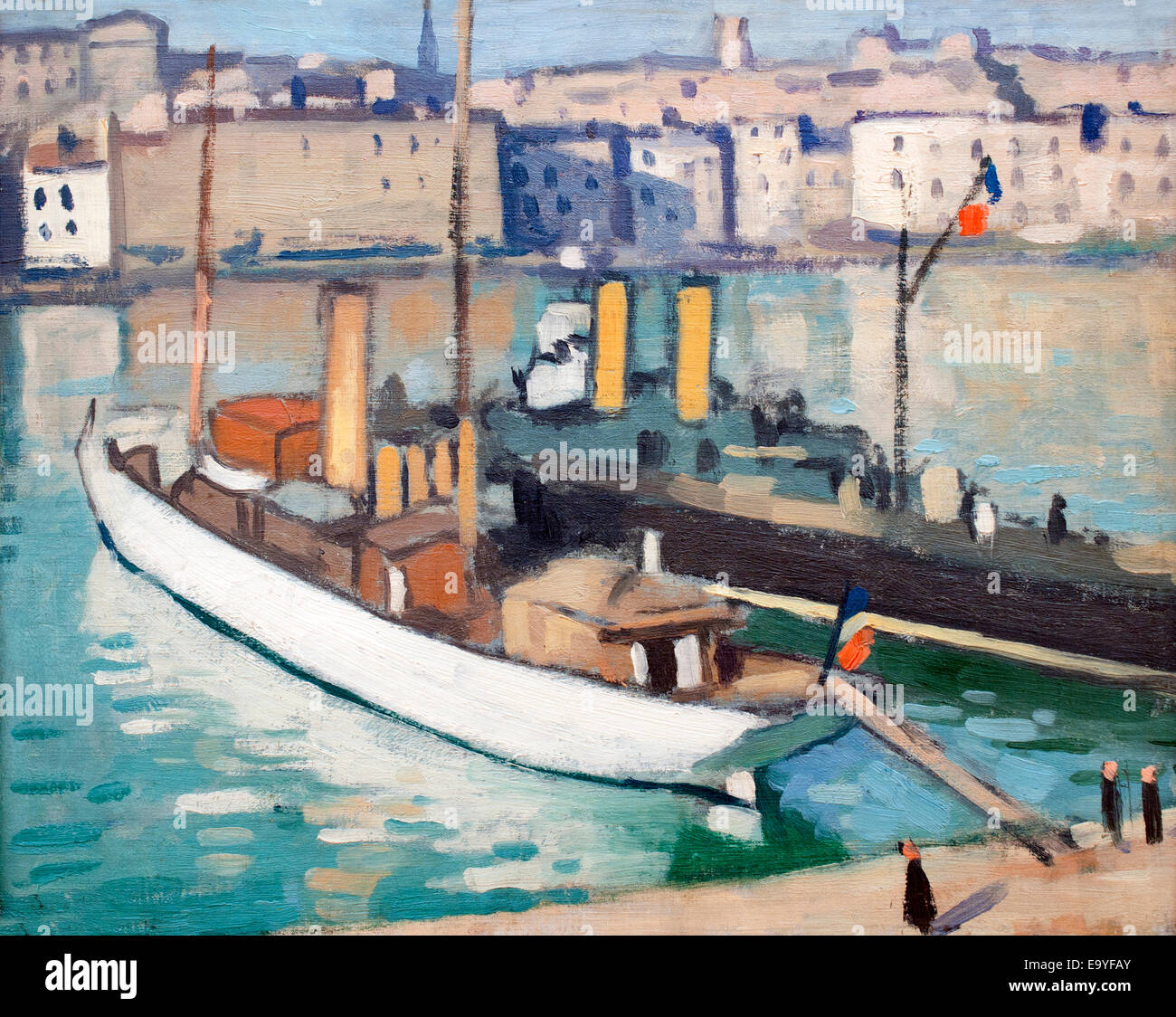 Bateaux patrouilleurs - Patrol boats in 1915 Albert Marquet 1875-1947 France French - Stock Image