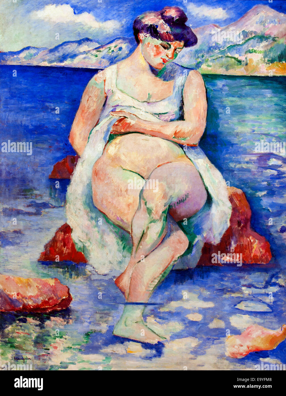 La Baigneuse - The Bather 1906 Henri Manguin 1874-1949 France French - Stock Image