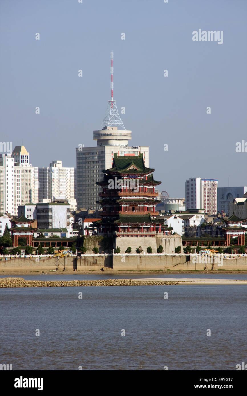 Nanchang Poetic scenery Honggutan Stock Photo