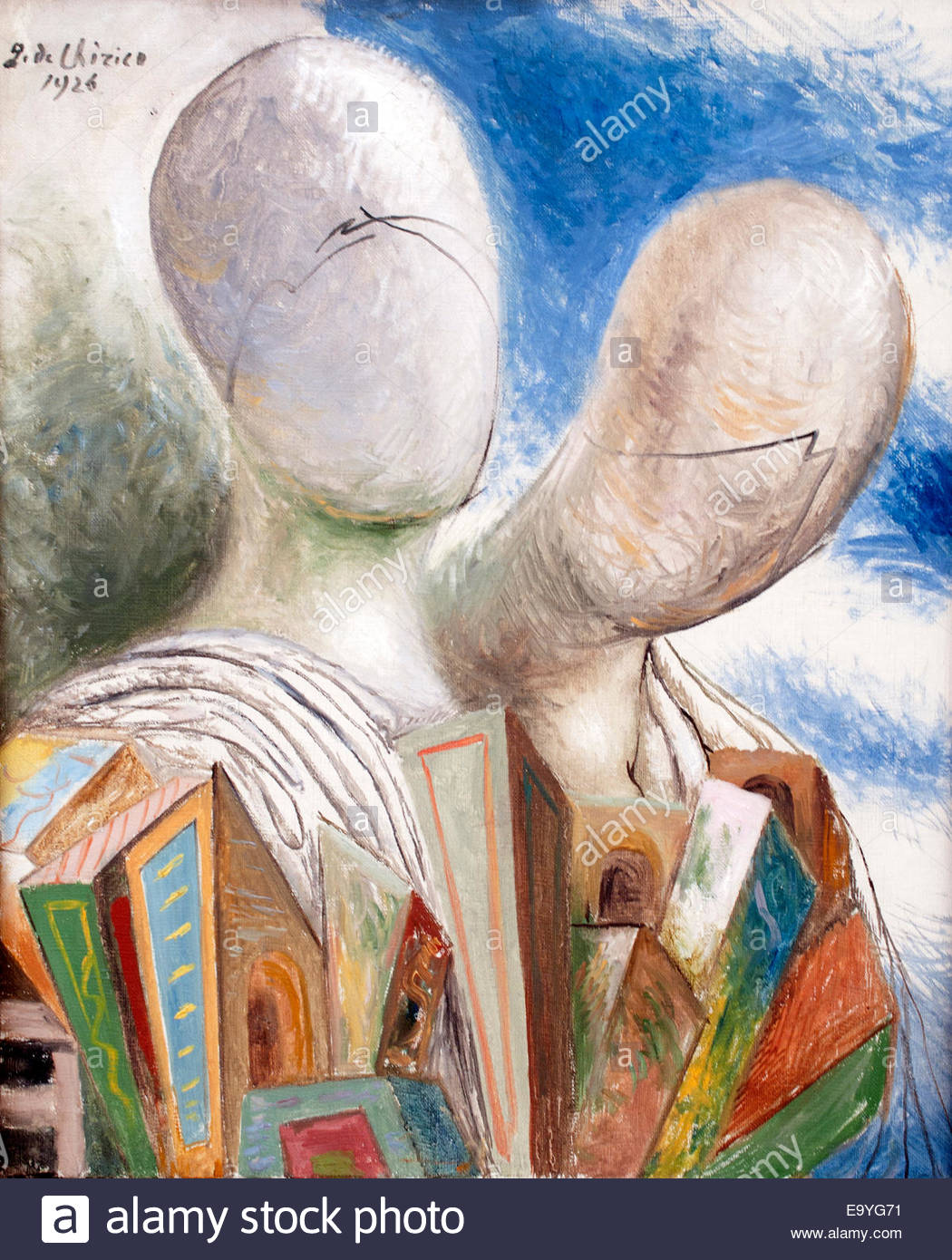 The Husband 1926  Giorgio de Chirico 1888 - 1978  Surrealist Italian painter - Stock Image